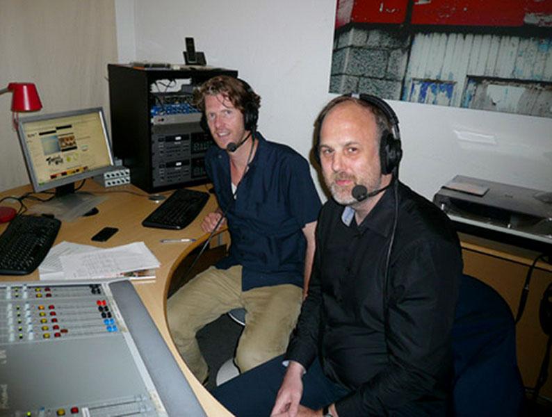 Ralf Schlüter mit Moderator Ruben Jonas Schnell von ByteFM Foto: Facebook
