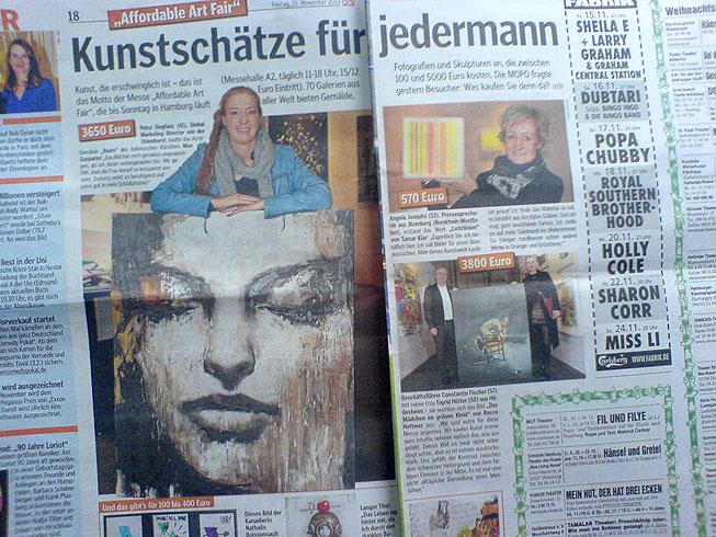 Große Kunst zum kleinen Preis? Die AAF in der Morgenpost.