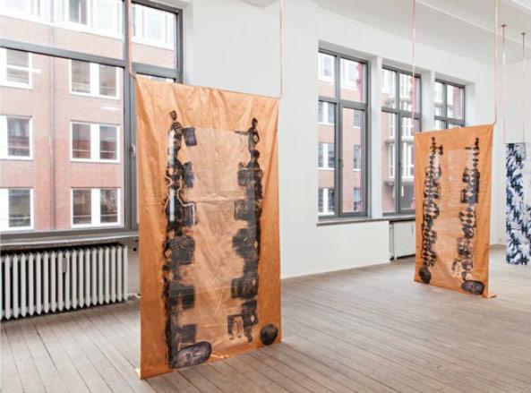 Installation von Christiane Blattmann beim Rundgang der Stipendiaten von Neue Kunst in Hamburg e.V.
