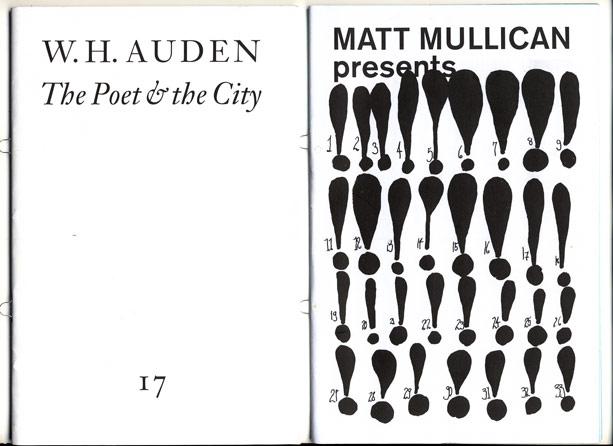 """Links das aktuelle """"Freiexemplar"""" mit einem Text von W. H. Auden. Rechts: Von Matt Mullican gestaltete Ausgabe"""