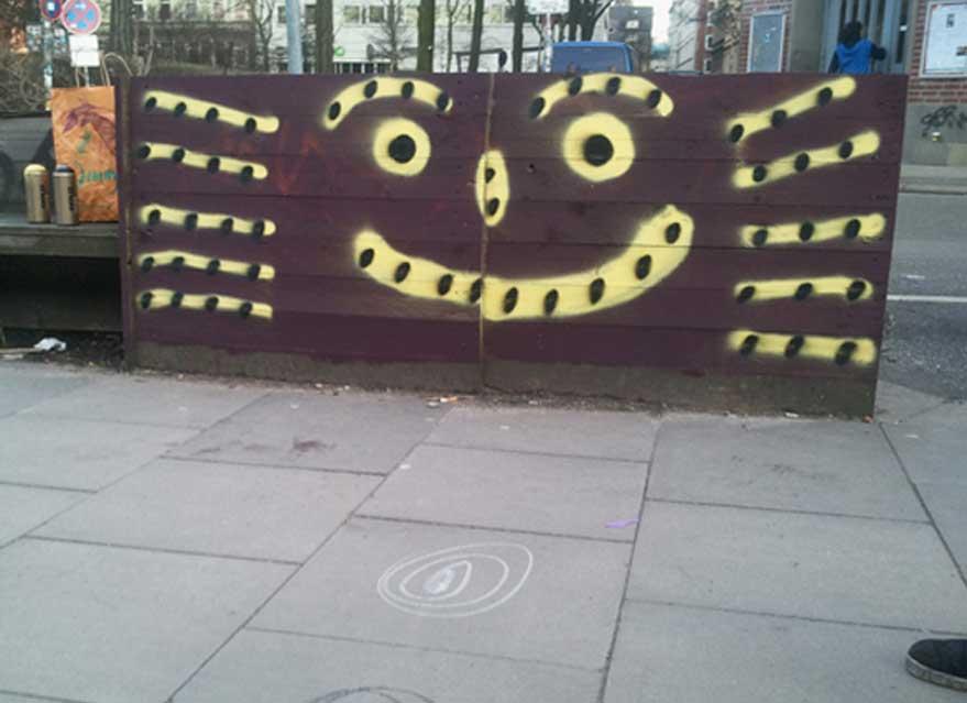 An der Gestaltung der Keimzelle beteiligte sich erst kürzlich ein weiterer Hamburger Künstler: Graffiti-Legende OZFoto: Keimzelle