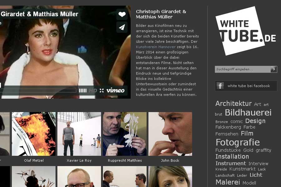 Einführung und Fundgrube: der Video-Kanal WhiteTube Foto: Screenshot
