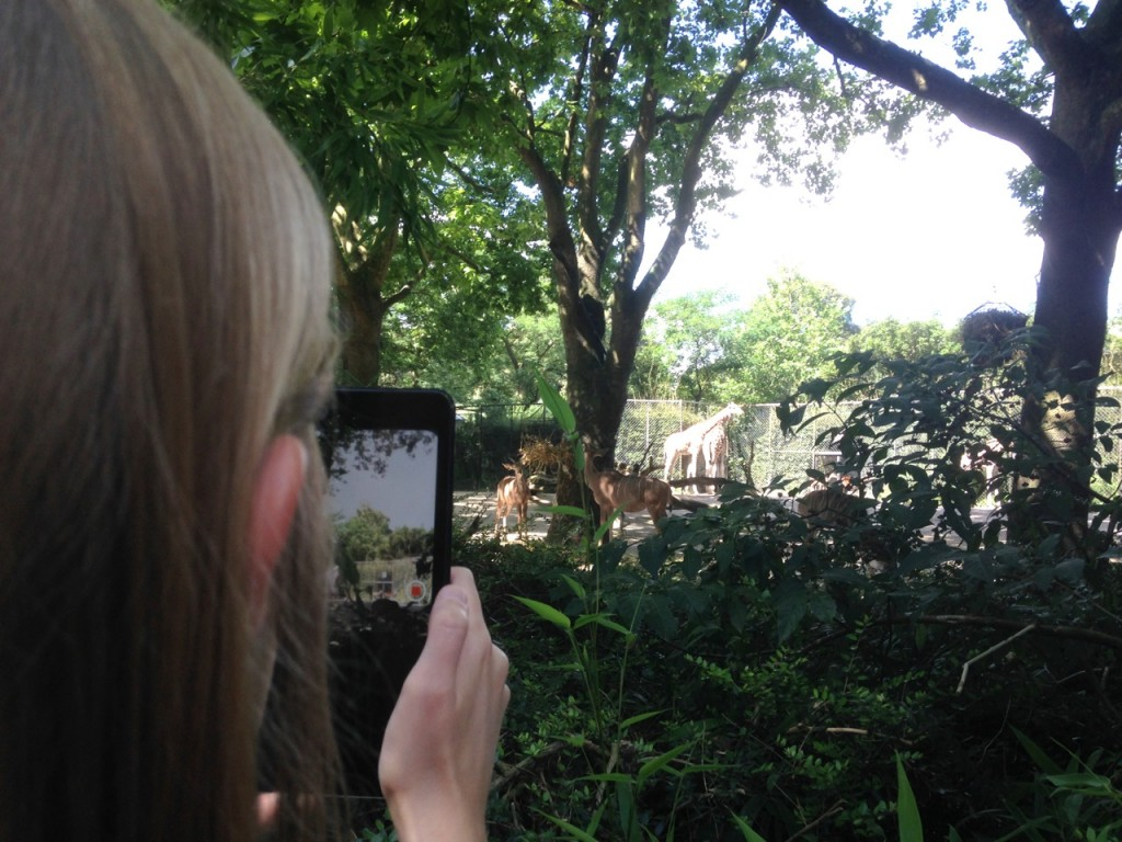 Annika Kahrs im Tierpark, Foto: Nguyen Phuong-Dan